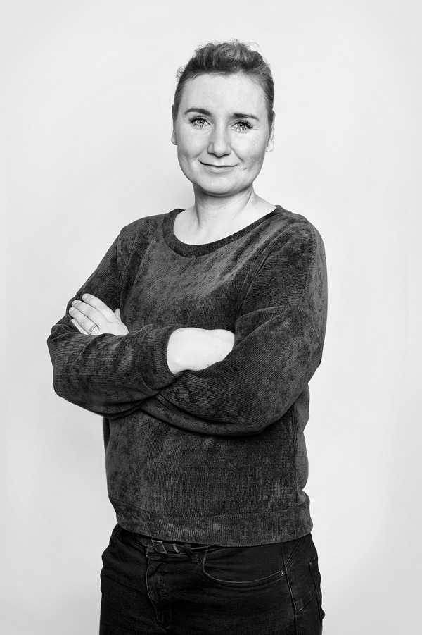 Schwarz Weiß Portrait Christina Roth